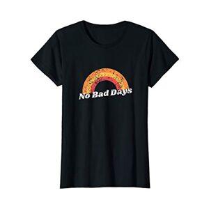 Fresh N Clean Tees Womens No Bad Days Rainbow Vintage Hippie Graphic T-Shirt