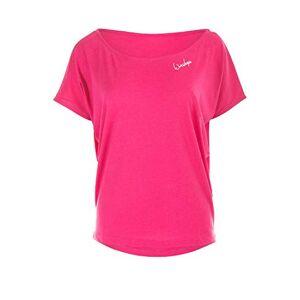 Winshape Women's Damen Ultra Leichtes Modal-Kurzarmshirt MCT002, Dance Style, Fitness Freizeit Sport Yoga Workout Short-Sleeved Shirt, deep-Pink, XS