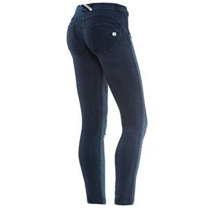 Freddy WR.UP® Shaping Effect - Low Waist - Skinny - Denim Jersey Back - True Distressed Denim Front - Dark Jeans-Blue Seam - Medium