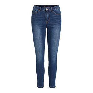 Vila A/s Vila Women's VIEKKO RWSK 7/8 Jeans/SU-NOOS, Dark Denim Blue, XL