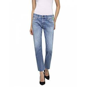 Replay Women's Joplyn Straight Jeans, Blue (Medium Blue 9), No Aplica /L30 (Size: 26)
