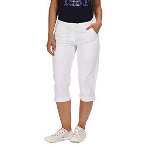Regatta Women's Maleena II Multi Pocket Capri Pants Shorts, White, Size 18