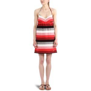 Roxy Sand Castle Halterneck Women's Dress Red Graphic Stripe Large