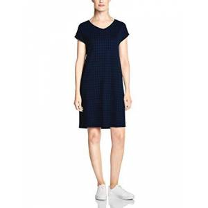 Cecil Women's 142508 Dress, Multicolour (Tinted Ink Blue 21465), X-Large