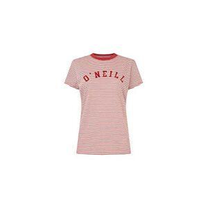 O'Neill Essentials STRP T-Shirt for Women, Womens, Short0Sleeved T-Shirt, 0A7312, Multicoloured (White AOP W/red), S