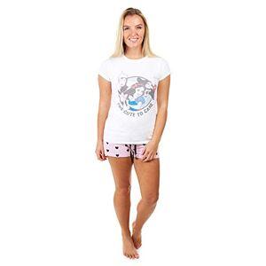 Creative Labs Disney Women's Too Cute Pajama Set, Multicoloured, Large