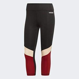 adidas Women Design 2 Move Colourblock 3/4 Tight - Black/Active Maroon, X-Small