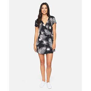 Hurley Women's W Waimea Wrap Dress, Black Palm, XS