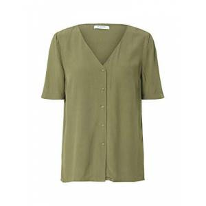 Pieces Women's Pccecilie Ss Top Noos Bc T-Shirt, Deep Lichen Green, M