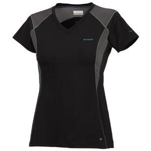 Columbia Women's Insight Ice Short Sleeve V-Neck Top - Black, X-Small