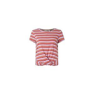 Oneill O'Neill LW Leona Stripe T-Shirt Short Sleeve for Women, womens, 0A7302, brown aop w/red, XS