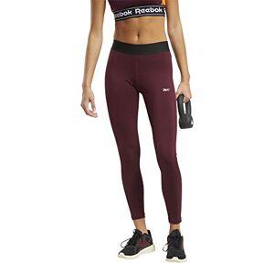 Reebok Te Linear Logo Poly Tight – Women's Leggings, Womens, Tights, FU2247_XS, Garnet, XS