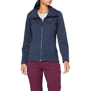 Jack Wolfskin Women's Sky Thermic Fleece Jacket, Night Blue, Size 6