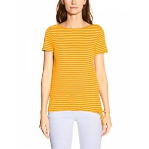 Cecil Women's 314911 Fine Stripe T-Shirt, Mango Yellow, X-Large