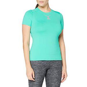 ODLO Shirt Crew Neck Ceramicool Women' S T-Shirt - Pool Green - Pink Glo (Neon), Large