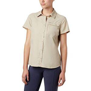 Columbia Women's 1841794 Shirt Silver Ridge 2.0 Short Sleeve, Nylon, Beige (Fossil), Size: XS