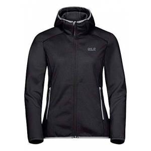 Jack Wolfskin Women's Hydro Hooded Fleece Jacket, Black, Size 6