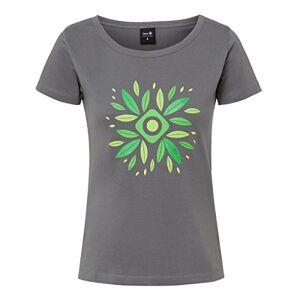 IZAS Women's Dadia T-Shirt, Dark Grey/Green, Medium