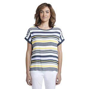 TOM TAILOR Women's Rundhals T-Shirt, 24517-Navy Multicolor STRI, Xx-Large