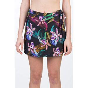Hurley Women's W Printed Wrap Skirt, Black/(Black), XS