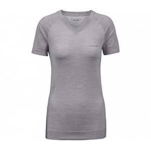 FALKE Women's Wool-Tech Light T-Shirt, Grey-Heather, XS