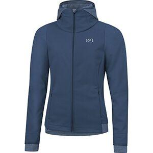 Gore Wear Women's R3 Windstopper Thermo Hooded Running Shirt - Deep Water Blue, Size: 42