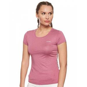 Columbia Women's T-Shirt, Peak to Point Novelty Short Sleeve, Polyester, Violet (Wine Berry), Size X-Small, 1710441