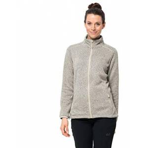 Jack Wolfskin Women Caribou Altis Fleece Jacket - White Sand, Size 6