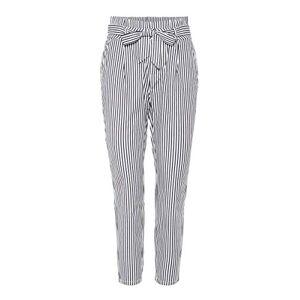 Vero Moda Nos Vero Moda Women's Vmeva Hr Loose Paperbag Cot Ps P Noos Ki Trouser, Multicolour (Snow White Stripes: Navy Blazer Stripes), 14 (Size: Large)