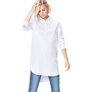 find. Women's Dress in Tunic Shirt Shape with Poplin, White, 12 (Manufacturer size: Medium)