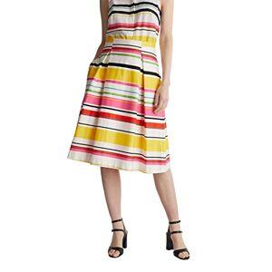 ESPRIT Collection Women's 050EO1D305 Skirt, 102/White 3, 18