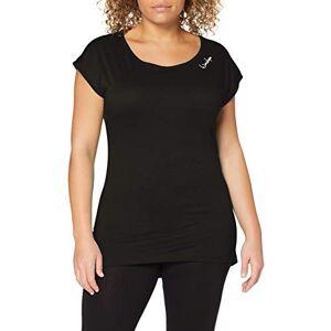 Winshape Women's Damen Ultra leichtes Modal-Kurzarmshirt mit abgerundetem Saum MCT013, Style, Fitness Freizeit Sport Yoga Workout Short-Sleeved Shirt, Black, XS