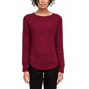 Q/S designed by Women's 46.912.61.2602 Jumper, Red (Cabernet 3930), Large