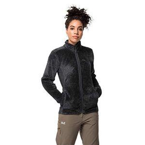 Jack Wolfskin Women Pine Leaf Fleece Jacket - Ebony Stripes, Size 6