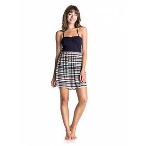Roxy Women's Sleep to Dream Tank Top Dress Multi-Coloured Yandai Stripe Combo Eclipse Size:L