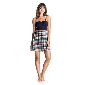 Roxy Women's Sleep to Dream Tank Top Dress Multi-Coloured Yandai Stripe Combo Eclipse Size:L