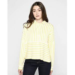Lee Cooper Women's Striped Blouse, Yellow, Large
