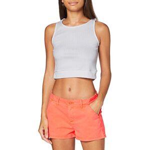 Superdry Women's Chino Hot Short, Orange (Fluro Coral Mmf), XXS (Size:6)