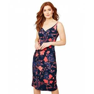 Joe Browns Women's Strappy Floral Summer Jersey Dress Casual, Blue, 6