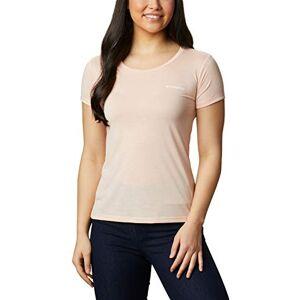 Columbia Women's Lava Lake II Short Sleeve T-shirt, Peach Cloud, CSC Power Brand, XS