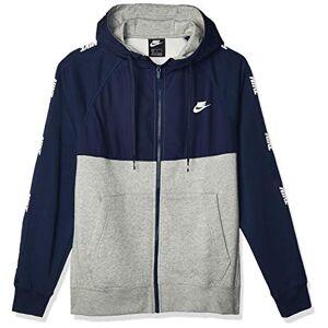 Nike NSW BB Hybrid Full Zip Hoodie - Midnight Navy/Dk Grey Heather/, Large