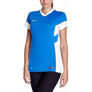 Nike W Academy14 Short Sleeve Top, Multi-Colour, L, 616604-463 Royal Blue/White