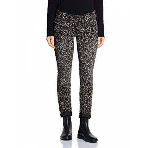 Street One Women's 372648 Crissi Casual Fit Slim Jeans, Multicolour (Leo Allover Printed 12073), W34/L32 (Size: 34)