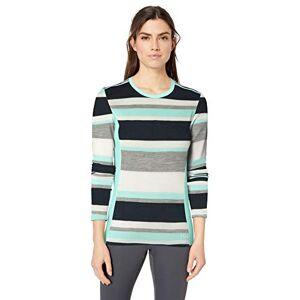 Helly Hansen Hellyhansen Women's Mid Graphic Longsleeve Sweatshirt, Blue Tint Stripe, X-Large