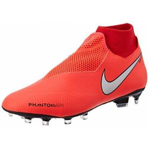 Nike Unisex Phantom Vsn Pro DF FG Football Boots, Red (Bright Crimson / Metallic Silver 600), 8UK (42.5 EU)