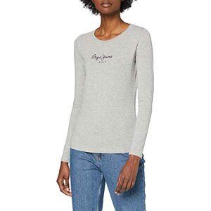 Pepe Jeans Women's New Virginia LS T-Shirt, Grey Marl, Large
