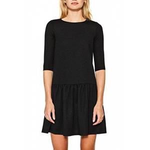 ESPRIT Women's 107ee1e007 Dress, Multicoloured (Black 001), Large
