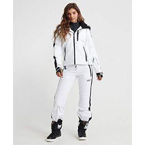 Superdry Women's SKI CARVE Snow Jacket, Arctic White, Size 6
