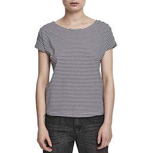 Urban Classics Women's Ladies Yarn Dyed Baby Stripe Tee T-Shirt, Multicolour (Navy/White 00159), XXX-Large