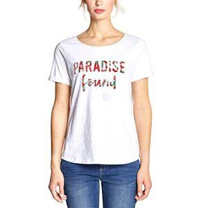 Street One Women's 313567 T-Shirt, Multicolour (White 30000), 12 (Size: 38)